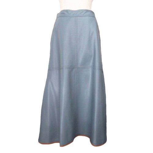 エコレザーAラインスカート|イメージ