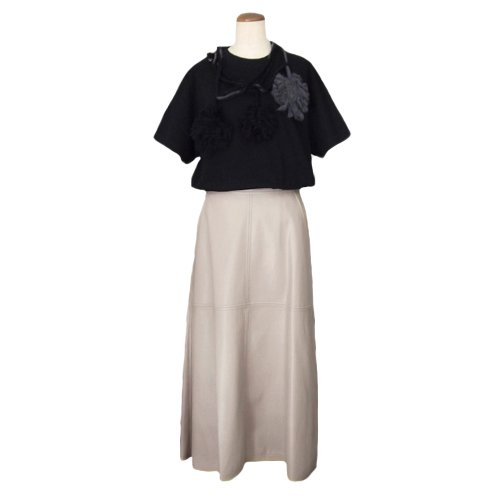 エコレザーAラインスカート|その他のイメージ3