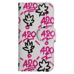420 T LEAF iPhone Case / WITE