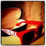 420RECORDZロゴサングラス/RED