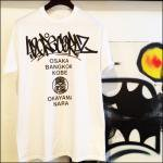 「420RECORDZ URANIWA TOUR TEE」WHITE