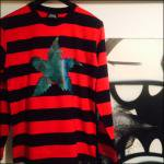 LEAF BORDER LONG SLEEV TEE(RED)