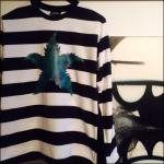 LEAF BORDER LONG SLEEV TEE(WH)