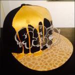 CASPER PLATE DRIP PAINT Special Brim SNAPBACK CAP (GOLD)