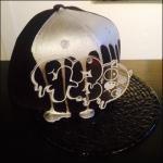 CASPER PLATE DRIP PAINT Special Brim SNAPBACK CAP (SILVER)