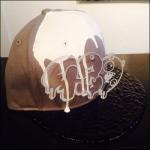 CASPER PLATE DRIP PAINT Special Brim SNAPBACK CAP (WHITE)
