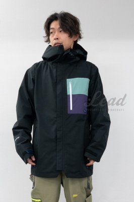【予約商品】19-20 THE KAMIKAZE F+LIGHT JKT 03 | Color : P-BLACK x GREEN GRAY x PURPLE PFC-FREE