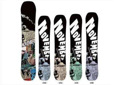 20-21 NOVEMBER snowboard|ノーベンバー ARTISTE GRAPHIC.LTD ツインキャンバー