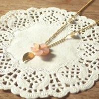 【ネコポス送料無料】★可憐な一輪★お花とパールのネックレス