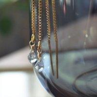 【ネコポス送料無料】★儚げな淡いブルーの輝き★上品で優しいブルーが宝石質の煌めきサファイアのピアス【セール対象外】
