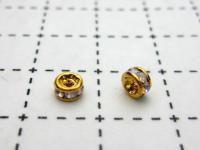 ロンデル(クリスタルオーロラ) 4mm 1ヶ (ゴールド)