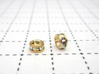 ロンデル(クリスタルオーロラ) 5mm 1ヶ  (ゴールド)