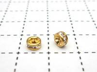 ロンデル(クリスタル)  5mm(ゴールド) 1ヶ