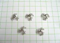 メタルパーツ(10ー12mm用)5ヶセット No.12(ロジウム)