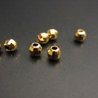 925シルバー(24金コート) シリコン入りミラーボールパーツ 径3.0mm(チェーン上で固定できるパーツ)◇1個売り◇