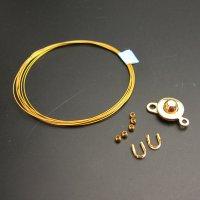 ワイヤーブレス手作りキット◇レシピ付き◇(ゴールド色)