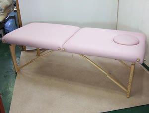 中古】【マッサージベッド】アースライト 『ピンク折りたたみベッド