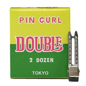【新品】ヘアクリップ『ダブルピン ステン(24本入り)』ダッカール
