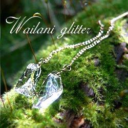 Wailani K18イエローゴールド 天然水晶ピアス glitter