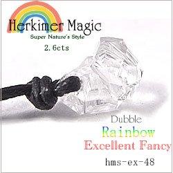 ハーキマーダイヤモンド クリスタル ネックレスEX 2.6cts Herkimer Magic 天然水晶