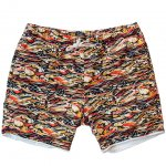 "CAL O LINE ""REVERSIBLE AFTER SURF SHORTS,WAVE"