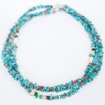 "NAVAJO ""TURQUOISE NECKLACE01 45cm"""
