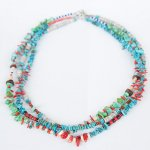 "NAVAJO ""TURQUOISE NECKLACE02 45cm"""