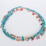 "NAVAJO ""TURQUOISE NECKLACE01 40cm"""