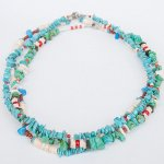 "NAVAJO ""TURQUOISE NECKLACE02 40cm"""