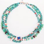 "NAVAJO ""TURQUOISE NECKLACE03 45cm"""