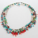 "NAVAJO ""TURQUOISE NECKLACE04 45cm"""