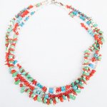 "NAVAJO ""TURQUOISE NECKLACE 55cm"""