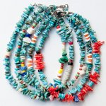 "NAVAJO ""TURQUOISE ANKLET 22cm 02(レディスアンクレット)"""