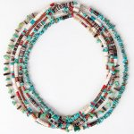 "NAVAJO ""TURQUOISE NECKLACE 45cm 02"""