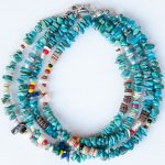 "NAVAJO ""TURQUOISE ANKLET 25cm 03(メンズ アンクレット)"""