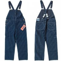 "HEADLIGHT ""8oz. SPECIAL WOVEN STRIPE DENIM LOW BACK OVERALLS"