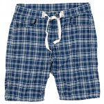 "Workers K&T H MFG Co ""EZ Shorts, Cotton Linen Indigo Check"""