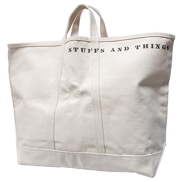 """SFV MERCANTILE×STEELE CANVAS BASKET CORP """"STUFFS AND THINGS HD CANVAS BAG"""
