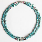 "NAVAJO ""TURQUOISE NECKLACE 40cm"""