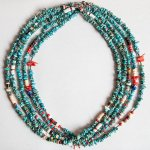 "NAVAJO ""TURQUOISE NECKLACE 50cm"""