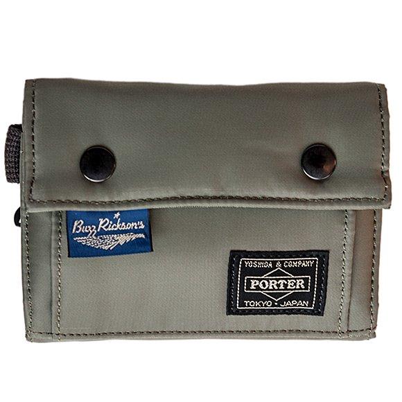buzz rickson s porter wallet sage green セレクトショップ リズム