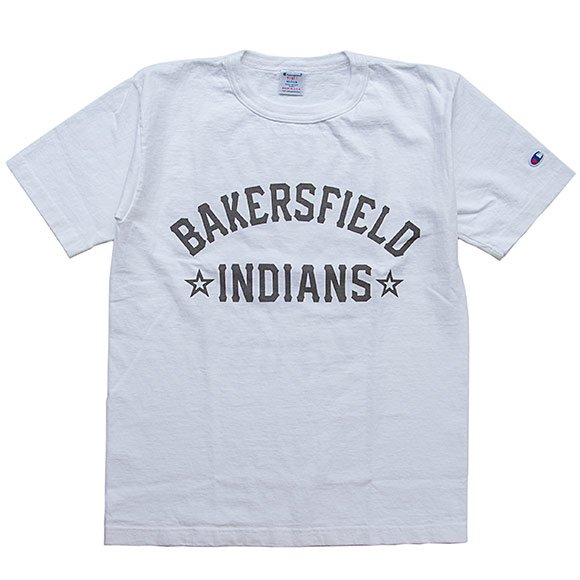 Champion u s a t1011 t shirt white bakersfield indians for T shirt outlet bakersfield ca
