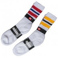 3PAIRS-STRIPE CREW SOCKS, USA COTTON