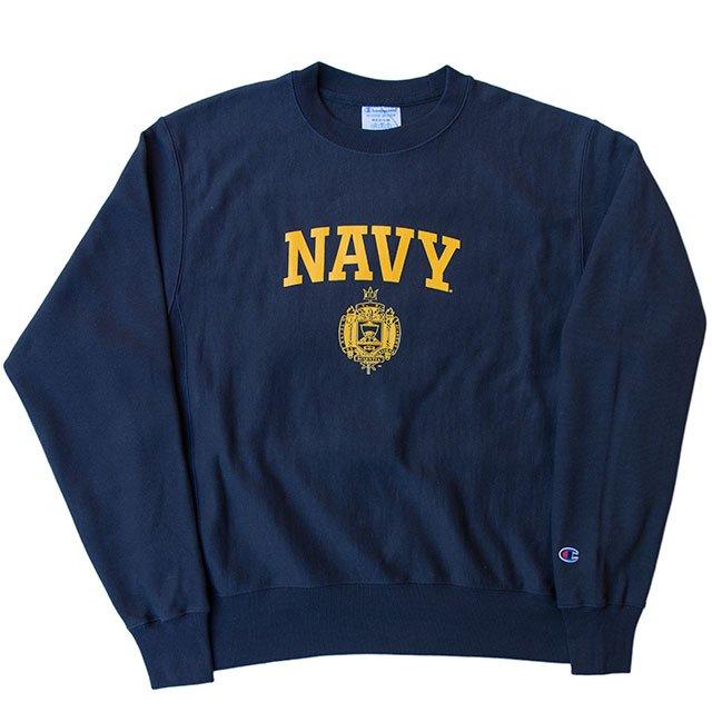 Champion de la Vie homme REVERSE Weave Crew Navy Sweat