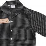 "Workers K&T H MFG Co""Italian Collar Shirt, Black"""