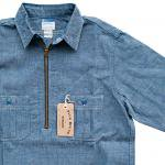 "Workers K&T H MFG Co""Half Zip Shirt, Blue"""
