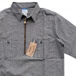 "Workers K&T H MFG Co""Half Zip Shirt, Plaid"""