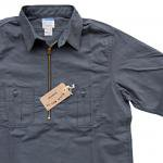 "Workers K&T H MFG Co""Half Zip Shirt, Gray"""