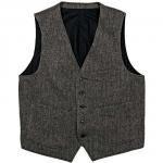 """Workers ワーカーズ""""Vest, Herringbone"""""""
