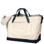 "Workers K&T H MFG Co ""Zip Top Tote, White"""